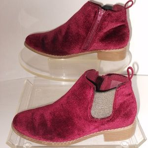 OLD NAVY PURPLE ANKLE BOOTS SIZE 4 MEDIUM